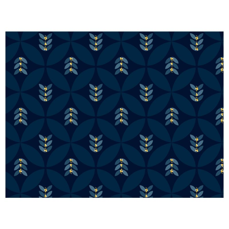 Geometric Sixties blue and yellow espadrilles