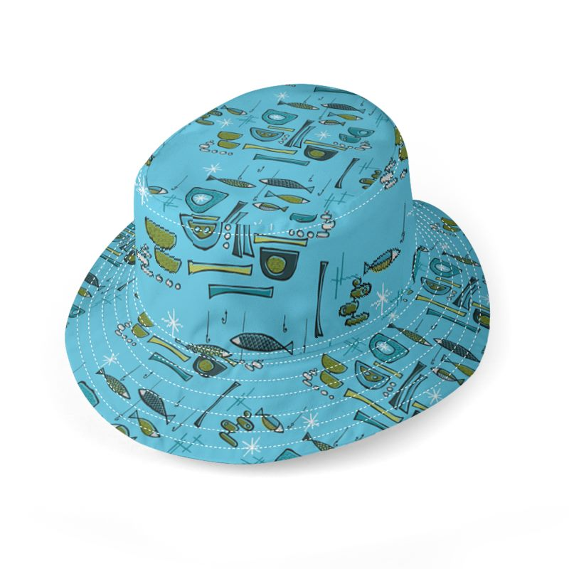 Modern fish bucket hat for Bucket of fish