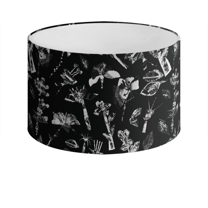 Black floral lamp shade aloadofball