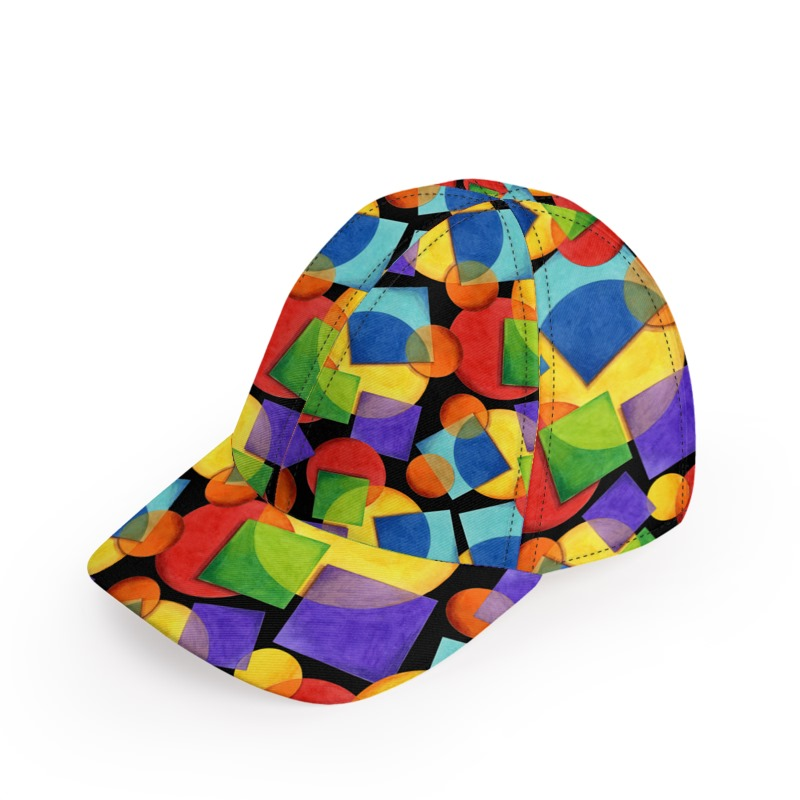 789677b9a Candy Rainbow Geometric Baseball Cap