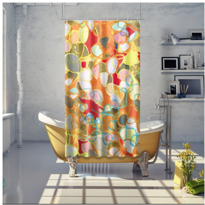 Pebble Mosaic Shower Curtain