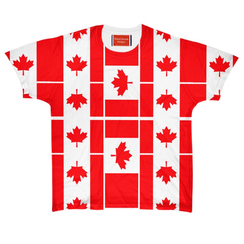 Canadian Flag All Over Print T Shirt