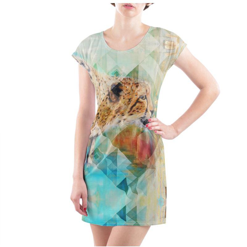 Uk 1012m Groot Cheetah T shirt Jurk Grootte 6yvbY7gf