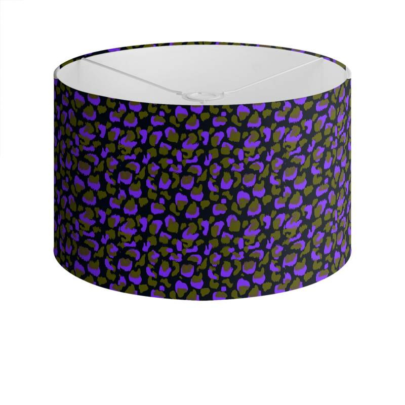 Purple and green floral animal print drum lamp shade aloadofball Image collections