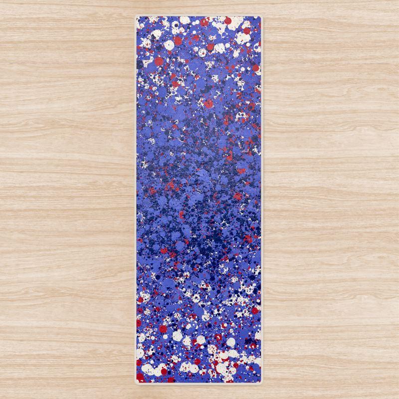 Purple nebula 42 yoga mat for Nebula fabric uk