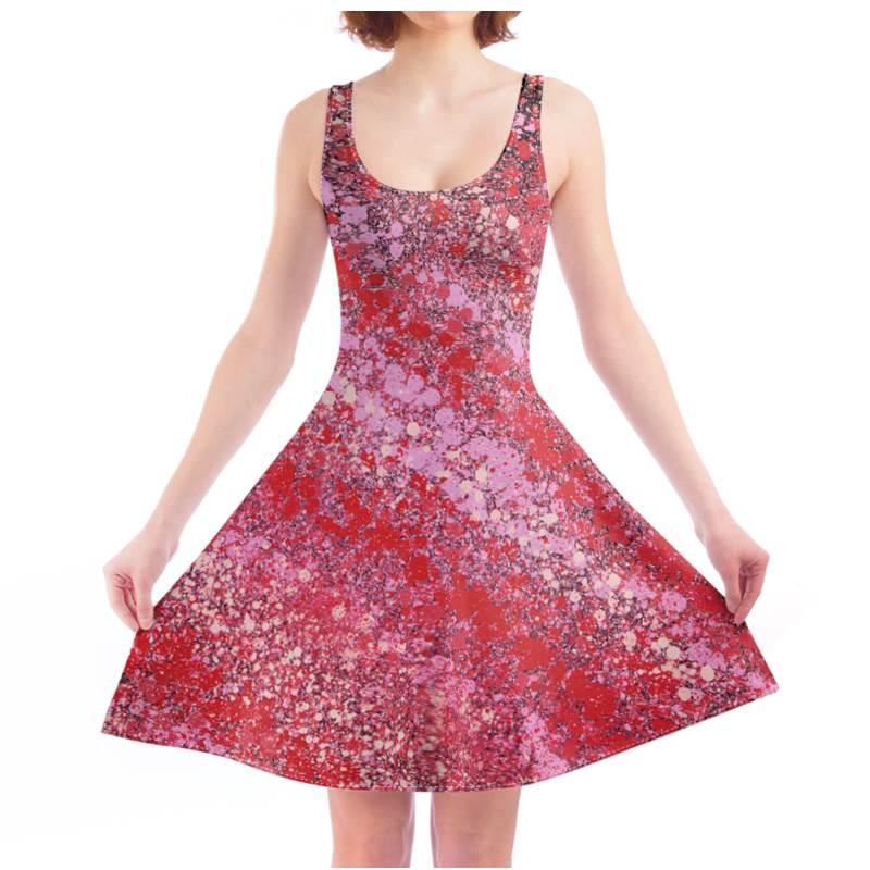 Pink Nebula 303 Skater Dress