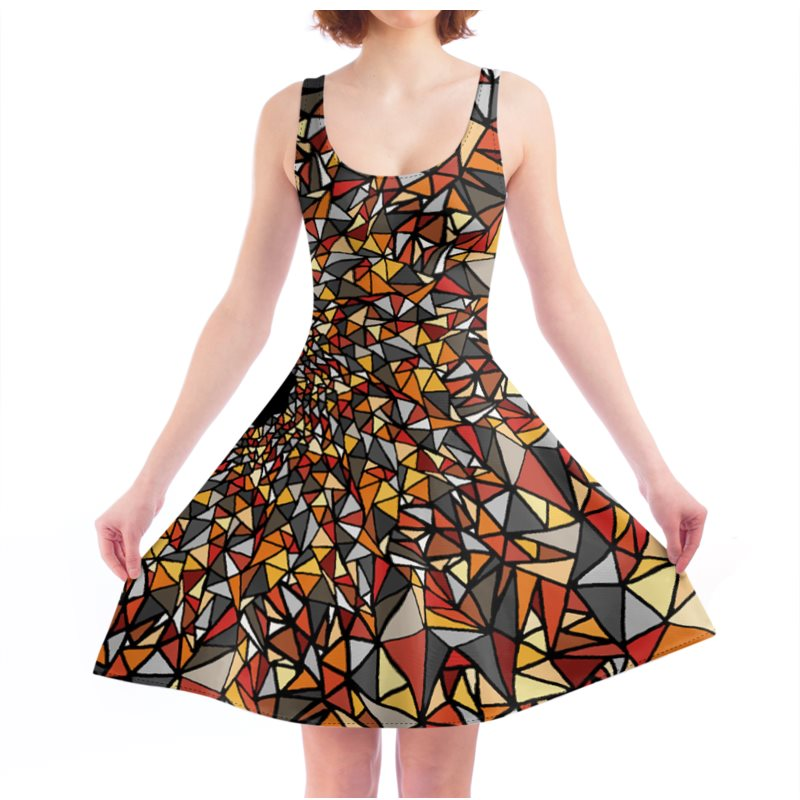 Autumn Eye Skater Dress