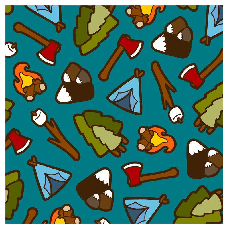Camping is Cool Luggage Tags