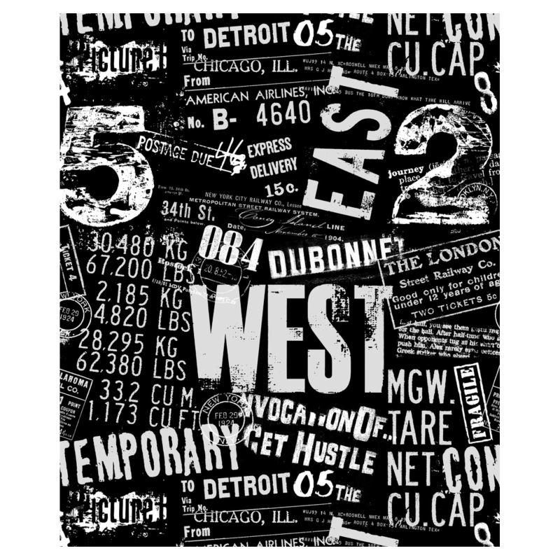 Grunge Urban Typo Design Ladies Bomber Jacket