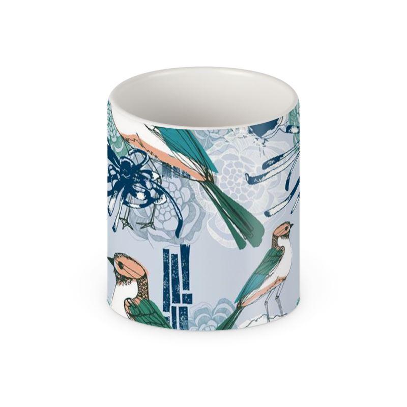 Japanese Block Print Builders Mug