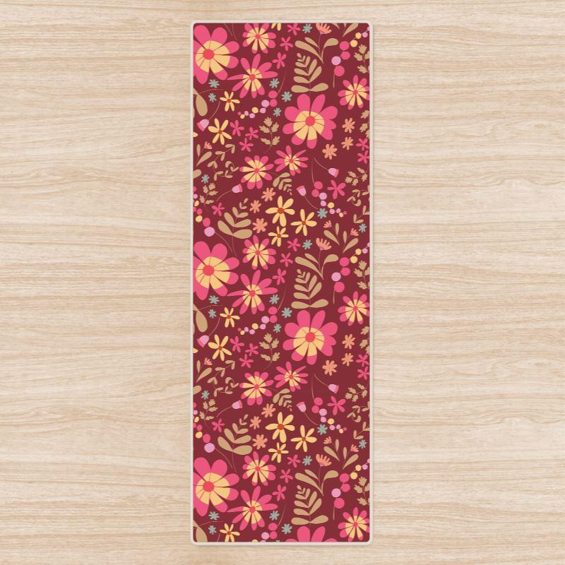 Beautiful Botanica Floral Print Yoga mat - Ruby Wine dfdf3e76cf56