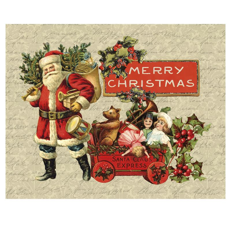 vintage christmas fabric placemats