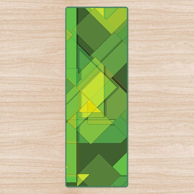yoga mat green abstract design