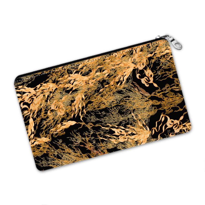 Flossie Noir Gold Flowing Pencil Case
