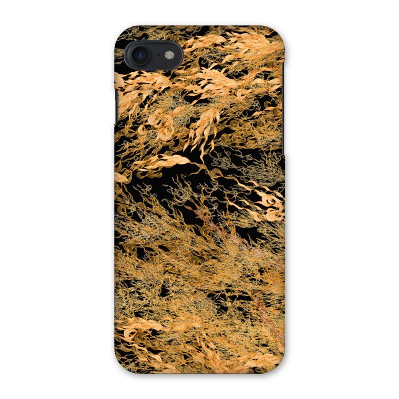 Flossie Noir Gold Flowing iPhone 7 Case
