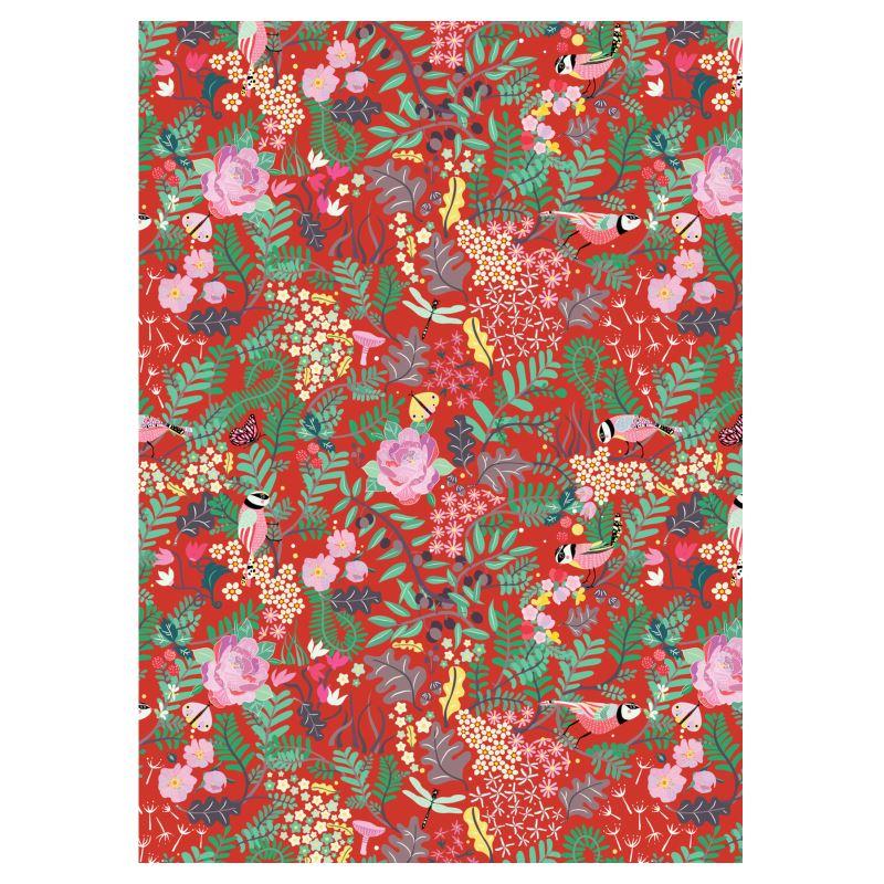 ' The Secret Garden - Daring Red Ladies Bomber Jacket