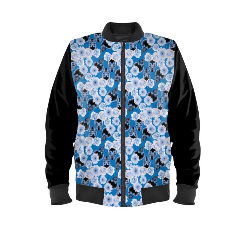 Flowers and Skulls Ladies Bomber Jacket