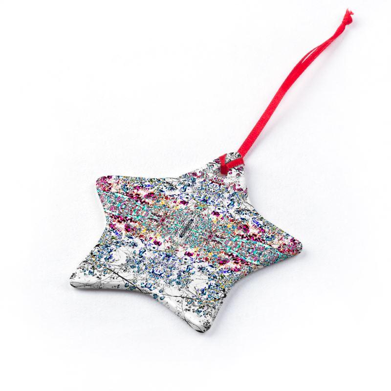 Damask Star Christmas Ornaments