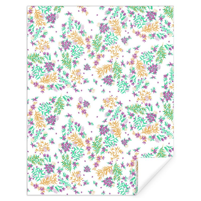 84333 White Purple And Yellow Hand Painted Floral Gift Wrap 0jpegcache6