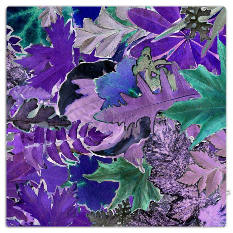 Purple Forna Print Throw