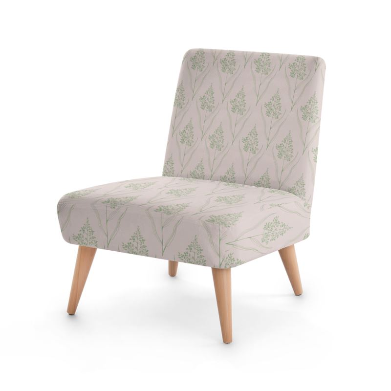 Botanical Luxury Collection Greenpink Occasional Chair