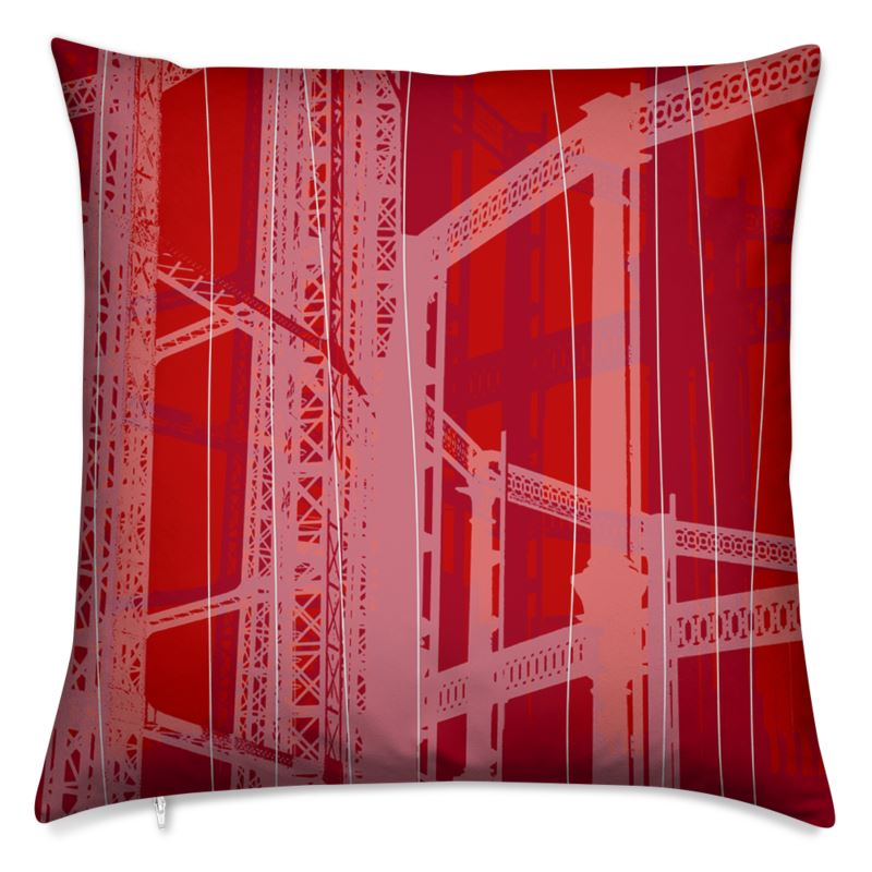 Red and White Gasholder Cushions