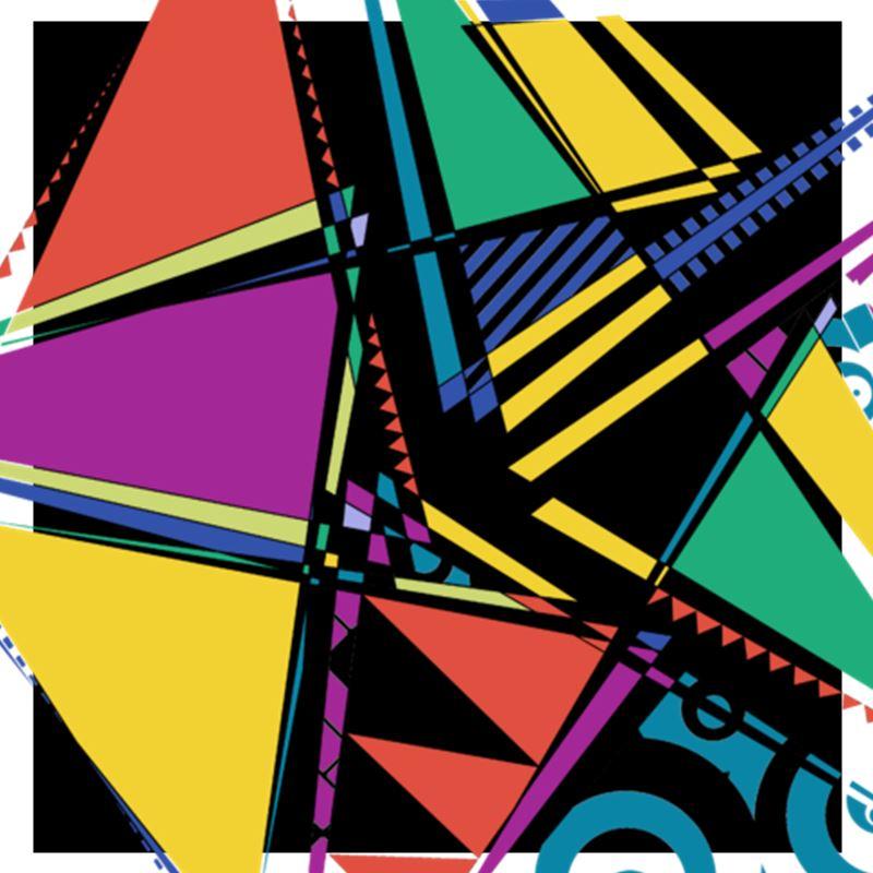Abstract, Geometric, Rainbow, Pattern, Modern, African, Mathematical, Tribal Fusion, Fashion, Shirt, Contrado, Tanzelle Oberholster, aRtVerse