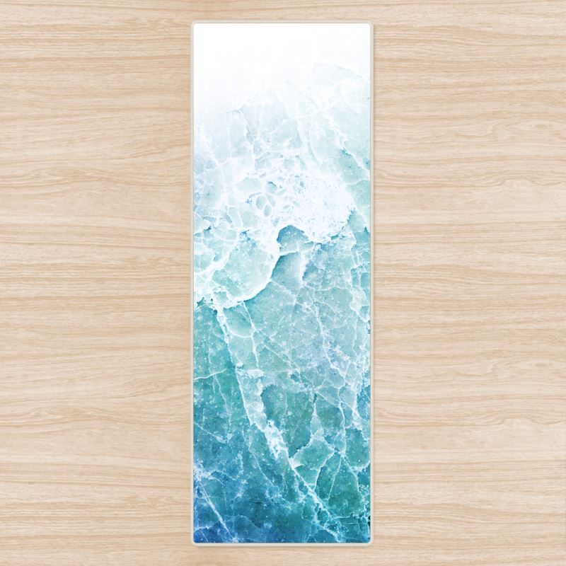Blue Pastel Sea Marble Yoga Mat
