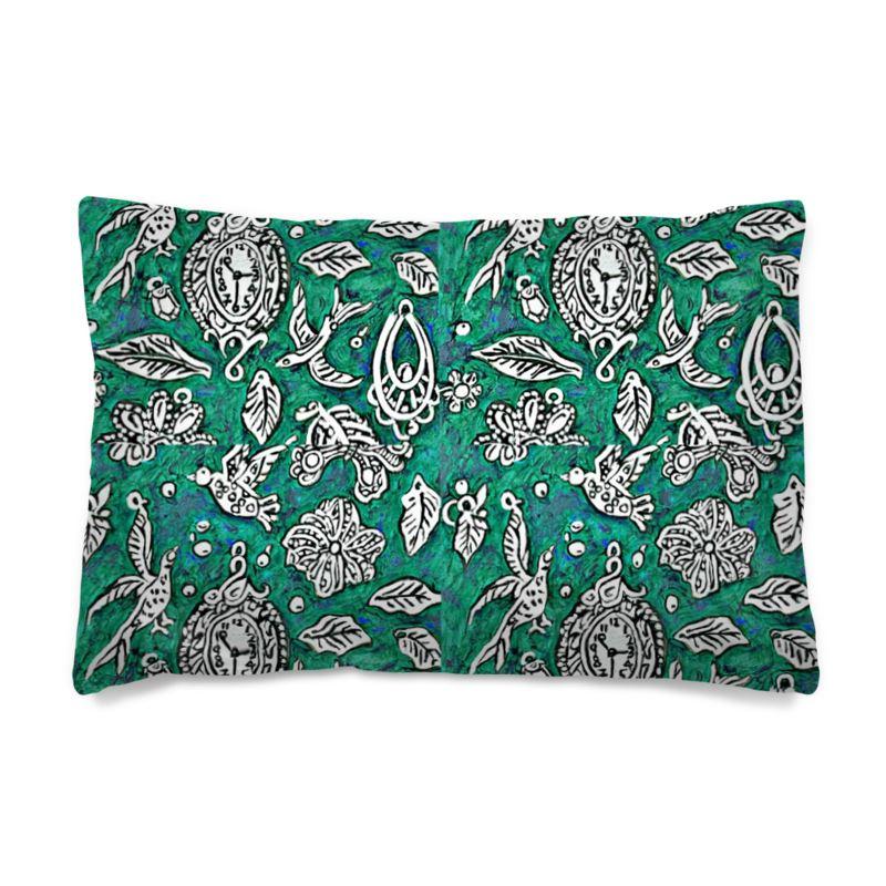 Fantasia Duvet Cover In Green And White