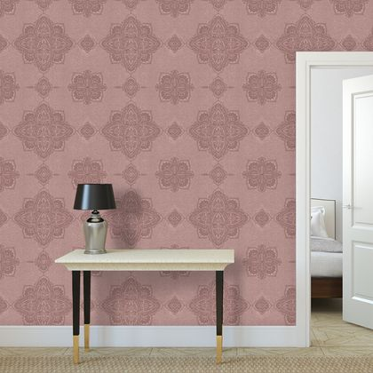Premium printed wallpaper - Blush pink marrakech mandala