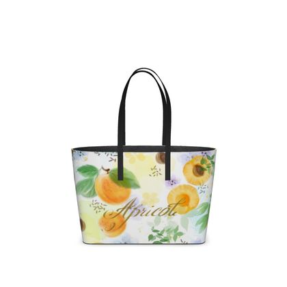 Little sun - Kika Tote - fruit design, apricots, sunny, orchard, yellow, bright, natural food, garden, hand-drawn floral, summer gift - design by Tiana Lofd