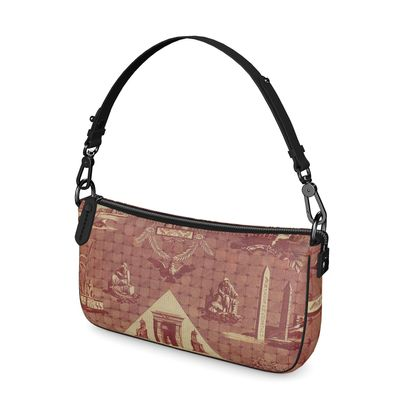 Napa Leather Baguette Bag The Monuments of Egypt