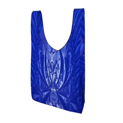 blue ice printed shopping bag