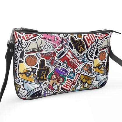 Pochette Double Zip Bag - College Days