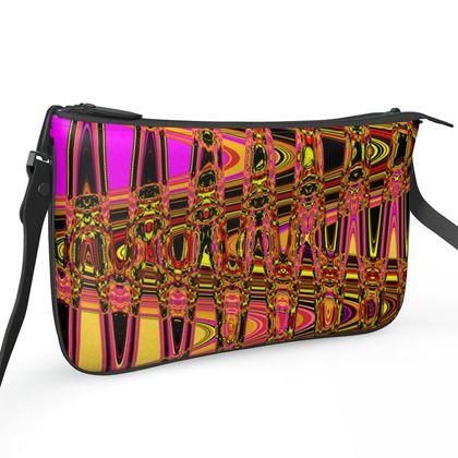 Pochette Double Zip Bag - Abstract Highway