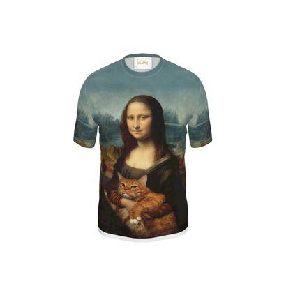 "Men ""Mona Lisa with her cat"" T Shirt"