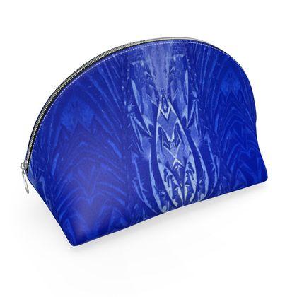blue ice printed make up bag