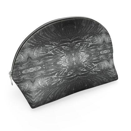 Grey ice printed make up bag