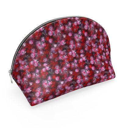 Red paint spatter printed makeup bag