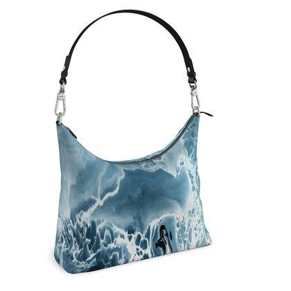 Square Hobo Bag -  Grunge Wave