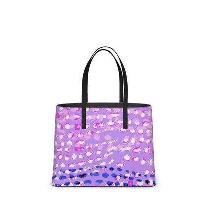 Textural Collection in mauve and blue Kika Tote