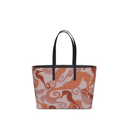 Sea Life Collection_Seahorses (Large) - Kika Tote bag