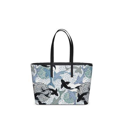 Sea Life Collection_Sea Ginger (White) - Kika Tote bag