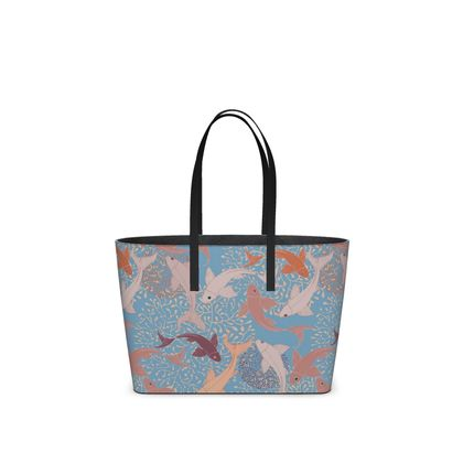 Sea Life Collection_Sea Ginger (Blue) - Kika Tote bags