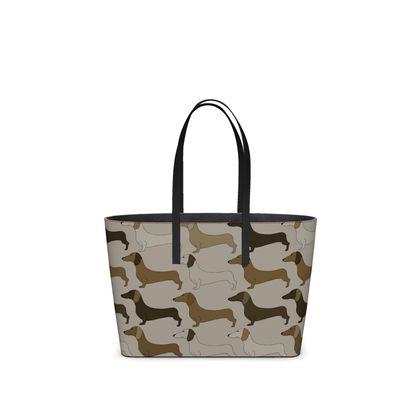 Dachshund Collection (Latte) - Kika Tote bag