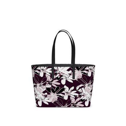 Magnolia Collection (Plum) - Kika Tote bag