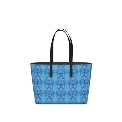 Butterfly Collection (Sky Blue) - Luxury Kika Tote bag