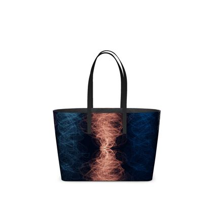 Light Threads Collection (Coral) - Luxury Kika Tote bag