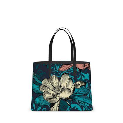 vintage flowers kika tote bag