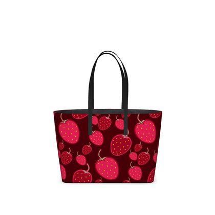 strawberries kika tote